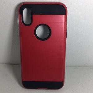 Accessories - iPhone X or XS Brushed Red Hybrid Case